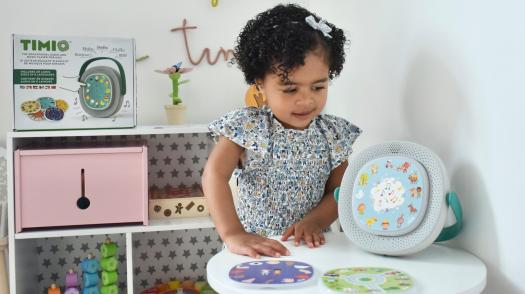 TIMIO is the ultimate scree-free teaching toy for babies, toddlers, and young kids